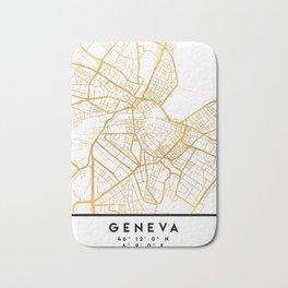 GENEVA SWITZERLAND CITY STREET MAP ART Bath Mat