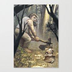 La toute petite vieille Canvas Print