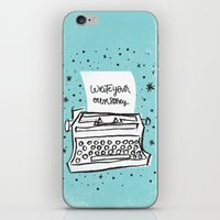 write iPhone & iPod Skins featuring Write your own story. by Matthew Taylor Wilson