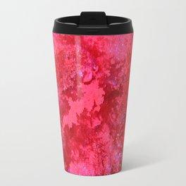 Pink Nebula Original Abstract Painting, Mixed Media On Canvas, Contemporary Artist, Abstract Artwork Travel Mug