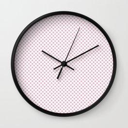Pink Mist Polka Dots Wall Clock