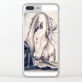 FATHER HORSE Clear iPhone Case