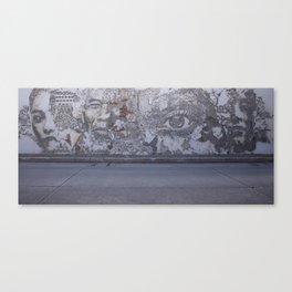 Street art by Vhils at the Creative District of Bangkok Canvas Print