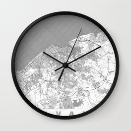 Havana Map Line Wall Clock