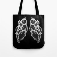 lungs Tote Bags featuring Lungs by Sushibird