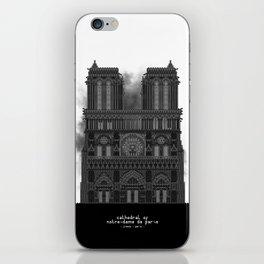 HexArchi - France, Paris, Cathedral of Notre Dame de Paris iPhone Skin
