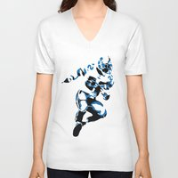 cowboy V-neck T-shirts featuring Cowboy by Sbranch