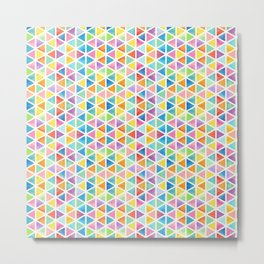 pattern watercolor rainbow geometric pattern Metal Print