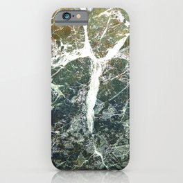 Stone texture with crack iPhone Case