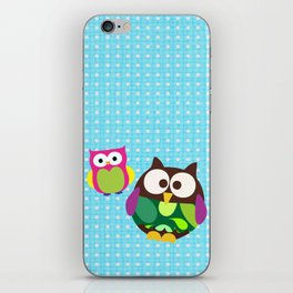 new owl/color iPhone Skin