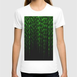 Bright Neon Green Digital Cocktail Party T-shirt