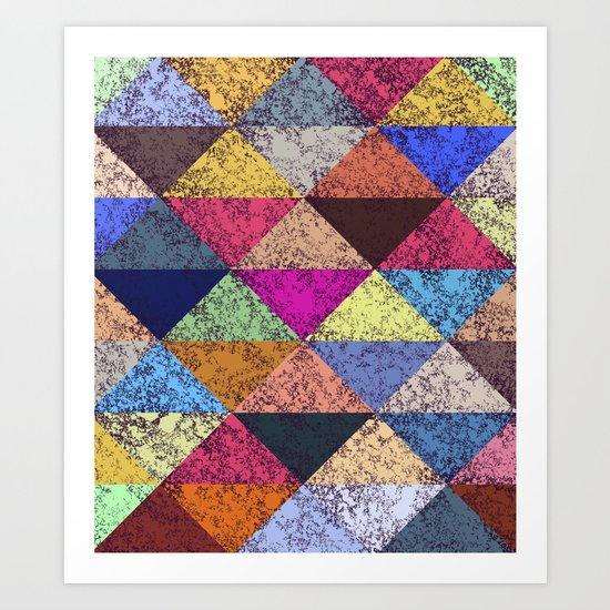 Color texture, Geometric background Art Print