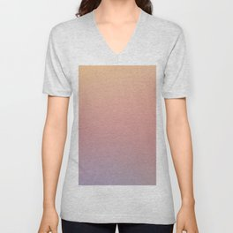 AFTER THOUGHTS - Minimal Plain Soft Mood Color Blend Prints Unisex V-Neck