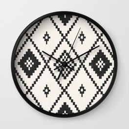 Salah in Black and White Wall Clock