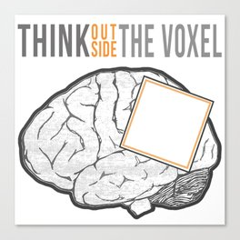 Think Outside the Voxel Canvas Print