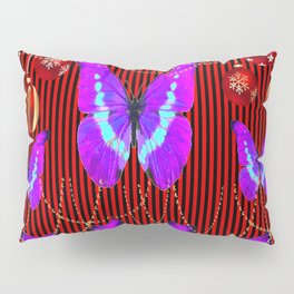 SURREAL PURPLE-NEON BUTTERFLY HOLIDAY CELEBRATION Pillow Sham