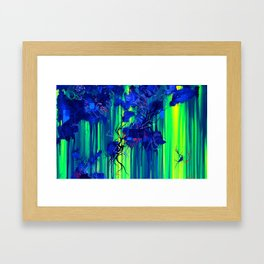 On The Broken Road Between Reality And Truth Framed Art Print