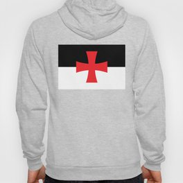 Knights Templar Flag - High Quality Hoody