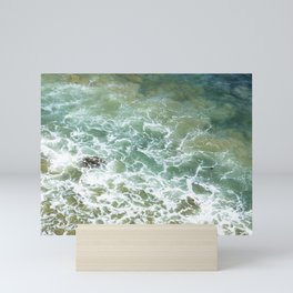 And the Waves Come Crashing In Mini Art Print
