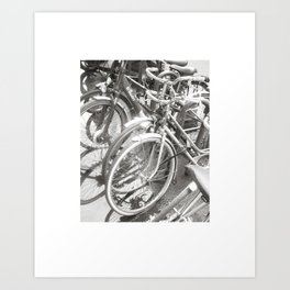 Paris Bikes Art Print