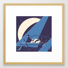 A Celestial Merchant Framed Art Print