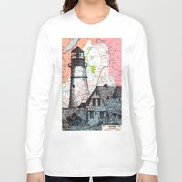 maine Long Sleeve T-shirts featuring Maine by Ursula Rodgers
