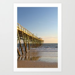 Outer Banks Fishing Pier and Ocean Seascape Art Print