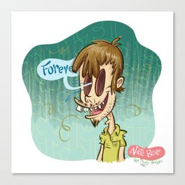 Zombie Self-Portrait: Forever Canvas Print