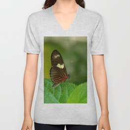 Doris Longwing Butterfly Unisex V-Neck
