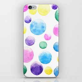 cheerful colorful bubbles iPhone Skin