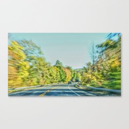 Autume road Canvas Print