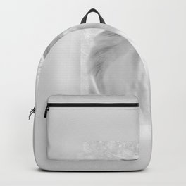 Horse Lover Head Snow And Ice Beautiful photo Backpack