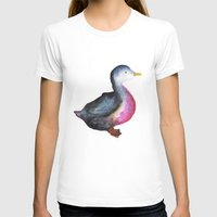 duck T-shirts featuring DUCK! by Okti