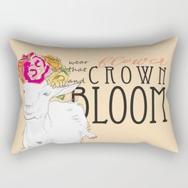 Wear That Flower Crown And Bloom - Goat Rectangular Pillow