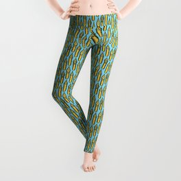 Dip Pen Nibs (Blue and Yellow) Leggings