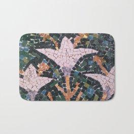 Lilies, mosaic replica Bath Mat