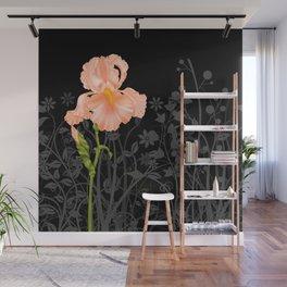 Iris Orange Wall Mural