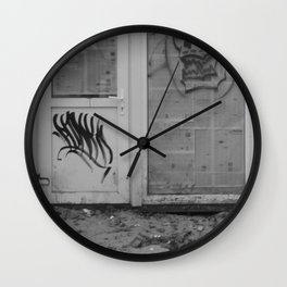 Death's newspaper booth Wall Clock