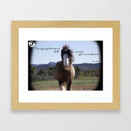 Life's Adventure Framed Art Print