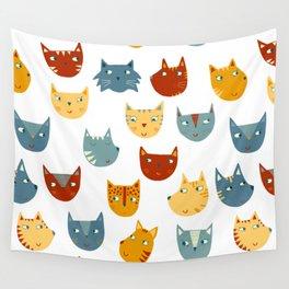 Many Cats Wall Tapestry