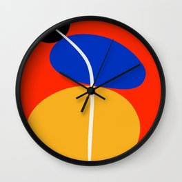 Red Zen Minimal Abstract Wall Clock