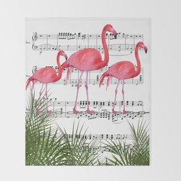 Flamingo dance Throw Blanket