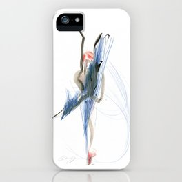 Expressive Dance Drawing iPhone Case
