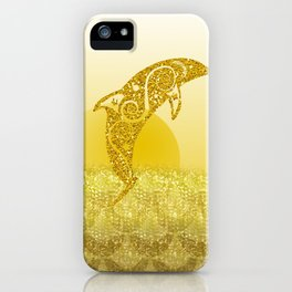 Gold Dolphin iPhone Case