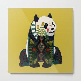panda ochre Metal Print