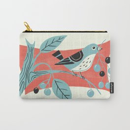 Blue Berry Bird Carry-All Pouch