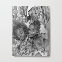 K.A.A.A. (featuring the beautiful children of Ayesha NuRa and Na'imah Delpeche) Metal Print