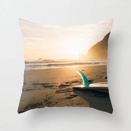Surfboard Throw Pillow