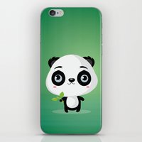 panda iPhone & iPod Skins featuring Panda by Maria Jose Da Luz