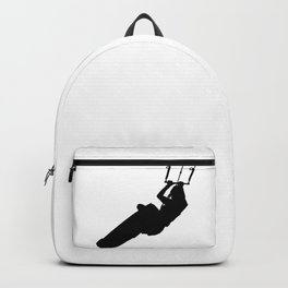 Time To Wake Up Kiteboarder Silhouette Backpack